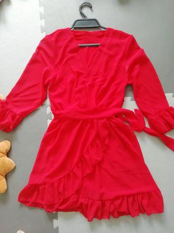 Nowa czerwona sukienka m/l Latika