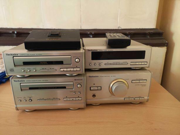 STEREO Technics (CD, Radio, Amplifier, Kasety) oraz 2 GLOSNIKI