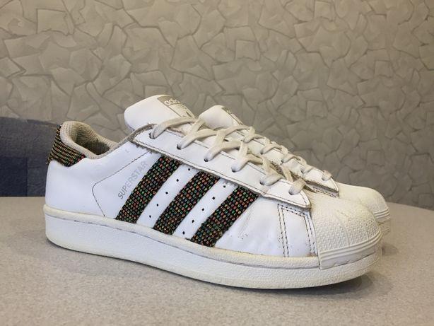 Кроссовки 37 р 23,5 см Adidas КОЖА Superstar Адидас Суперстар кеды бел