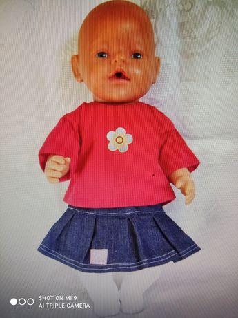 Zestaw ubranek dla lal r 41-43 typu baby Born i hiszpańskie.