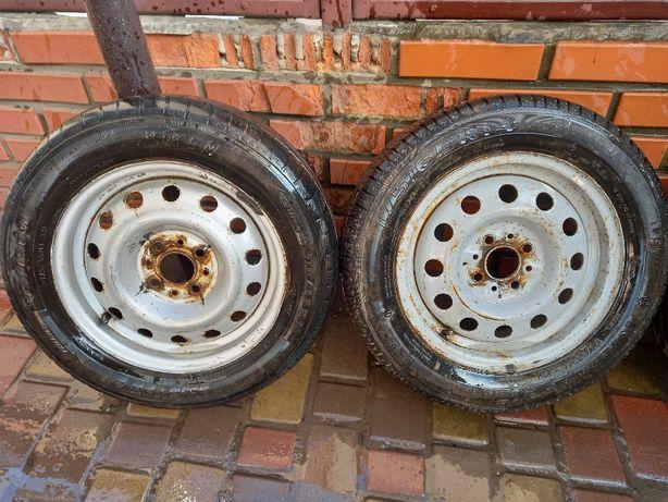 Продам комплект дисков R 14 4х98 ВАЗ с летней резиной 175/65 недорого