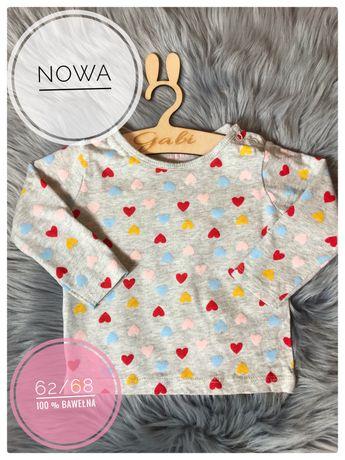 Nowa śliczna bluzka serca walentynki sesja 100 % bawełna ciążowe