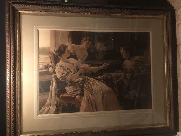 Sprzedam dużą (140x113cm) XIX w. reprodukcję obrazu W.Czachórskiego