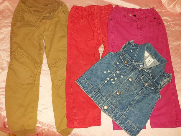 Лот вещей #4 Джинсы lupilu вельветовые жилет  джинсовый Gap 3-4 года