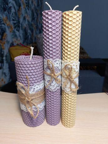 Свечи из вощины набор из 3-х
