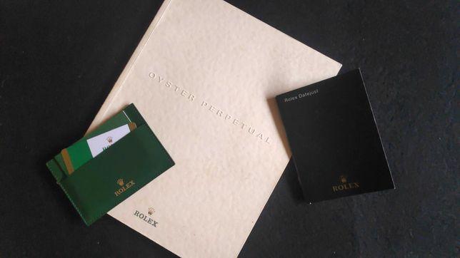 Rolex certificado Original e Booklet imaculados modelo Datejust