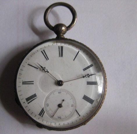 Zegarek kieszonka srebro kluczykowy