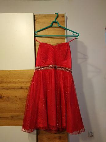 Sukienka różowa z brokatem