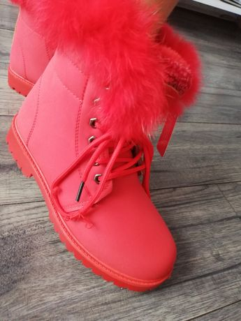 Trapery buty czerwone r36