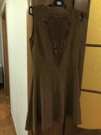 Sukienka Reservet brazowa M