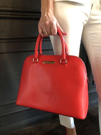 Michael Kors czerwona torebka Cindy Large Red Oryginalna wyprzedaż 30%