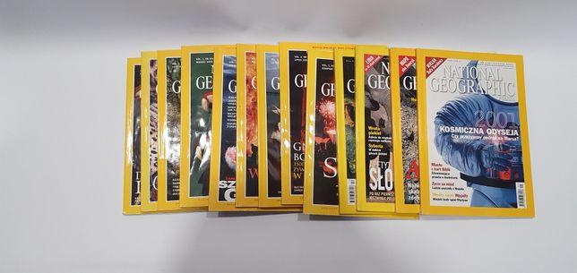 Czasopismo kolekcja miesięcznik National Geographic 13 szt stan b.d