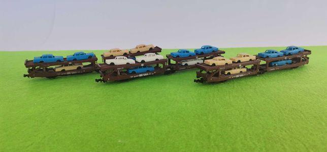 Comboio carruagem porta carros lima escala n 1/160 1:160