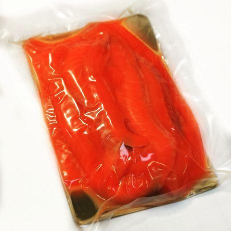 Филе Слайсы лосося семги красная рыба