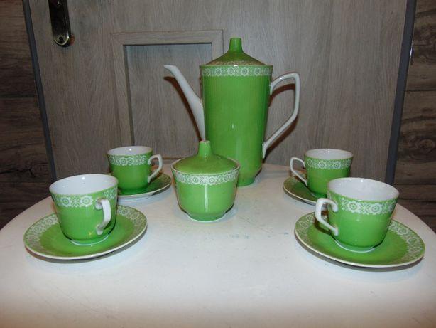 Serwis do kawy,lata 60,Wałbrzych,zielony230