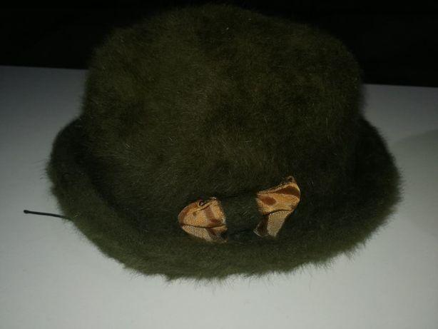 kapelusz zielony damski