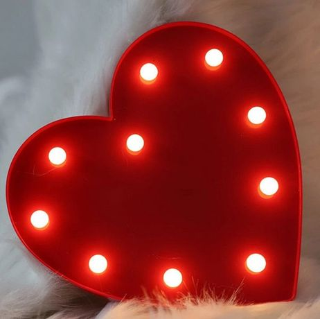 Нічник серце на батарейках декоративний LOVE IS...