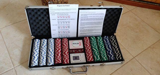 Conjunto Mala + Jogo Pôquer (500)