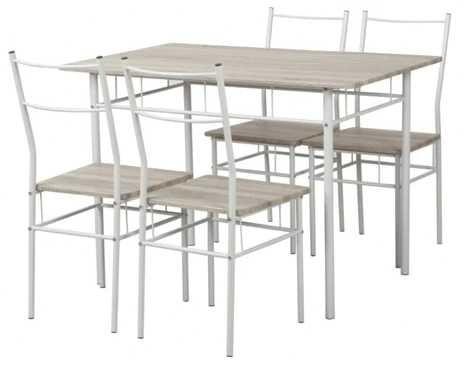 Conjunto Mesa + 4 Cadeiras KASA Wood