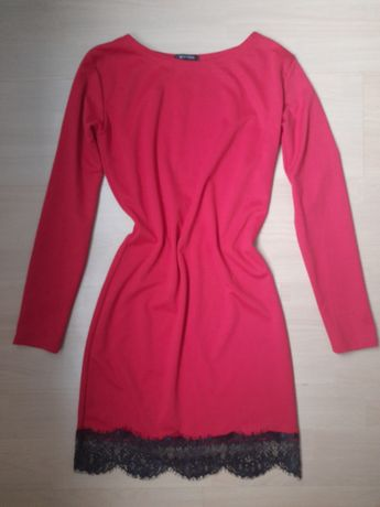 Червоне плаття осінь/весна/зима