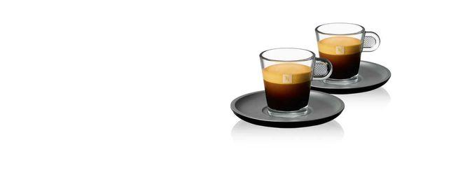 8 chávenas Nespresso Glass novas