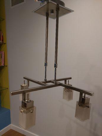 Nowoczesna lampa sufitowa metalowa / regulowana wysokość żarówki