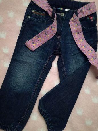 Nowe spodnie jeans r. 92/98