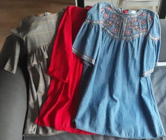 ZARA sukienki dziewczęce zestaw 3 sztuk, 13/14 lat, 164 cm, idealne
