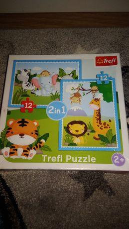 Puzzle 2w1, dla 2 latka