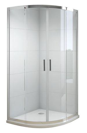 Kabina prysznicowa NIVO 90x90 z brodzikiem niskim 3,5 cm + syfon