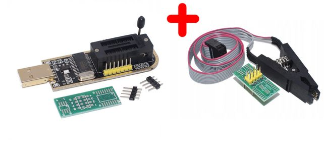 Nowy Programator CH341A EEPROM SPI USB + KLIPS
