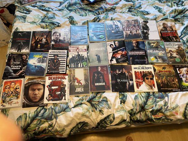 Komplet zestaw płyt dvd filmy kryminalne sensacyjne zagraniczne hity