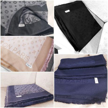 Piękna chusta Louis Vuitton monogram 140x140 jedwab kaszmir cudo jakos