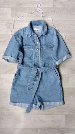 Очень классный,стильный летний джинсовый комбинезон