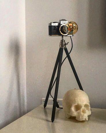 Vários Candeeiros/ Máquina Fotográfica Analógica/ Vintage