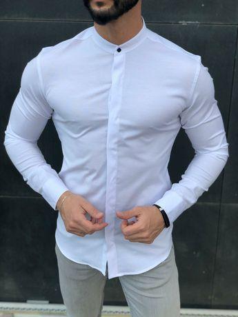 Рубашка мужская с воротником стойка.