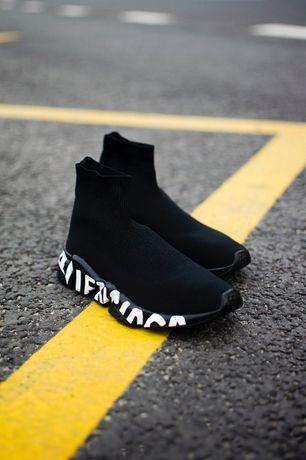 Balenciaga Speed Trainer Black Graffiti w napisy buty damskie 36- 40