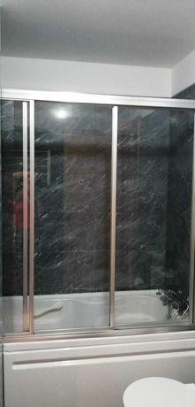 Frontal de duche com 3 portas de correr