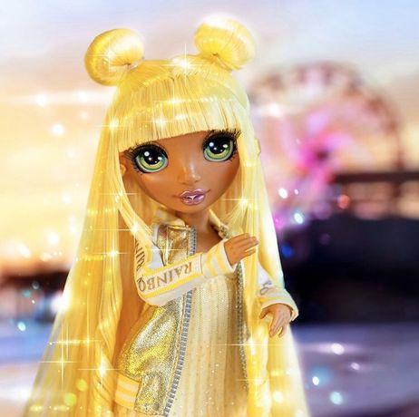 Rainbow куклы, кукла с желтыми волосами Санни рейнбоу, рэйнбоу ЛОЛ