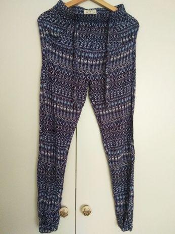 Spodnie wiązane haremki 158 dresowe yd joga alladynki xs