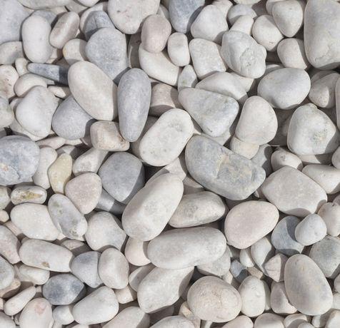 Kamień otoczak POLSKI biały pastelowy 20-40 mm