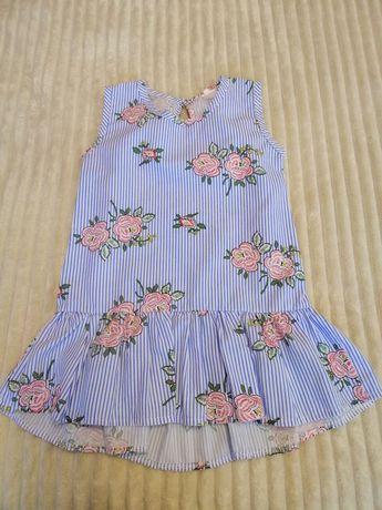 Платье летнее лёгкое 92-98р, 2-3г, L. Bunny,next zara h&m