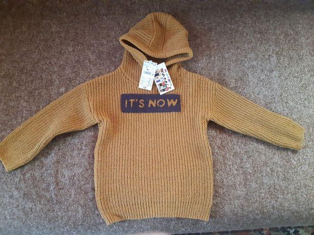 Вязаный тёплый свитер 108-113р. Новый