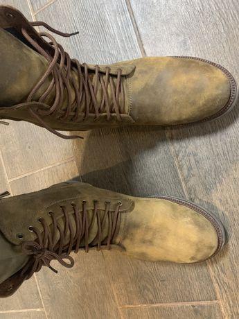 Кожанные Ботинки размер 46-47