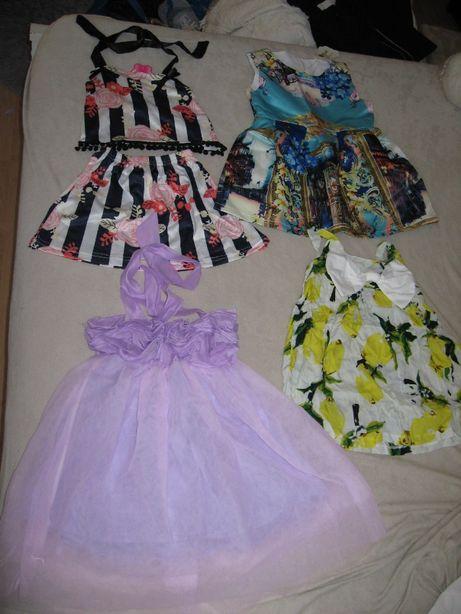 nowe sukienki i rampersy na 90-100cm