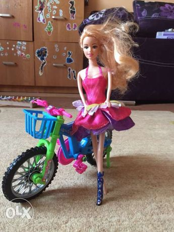 barbie z rowerem