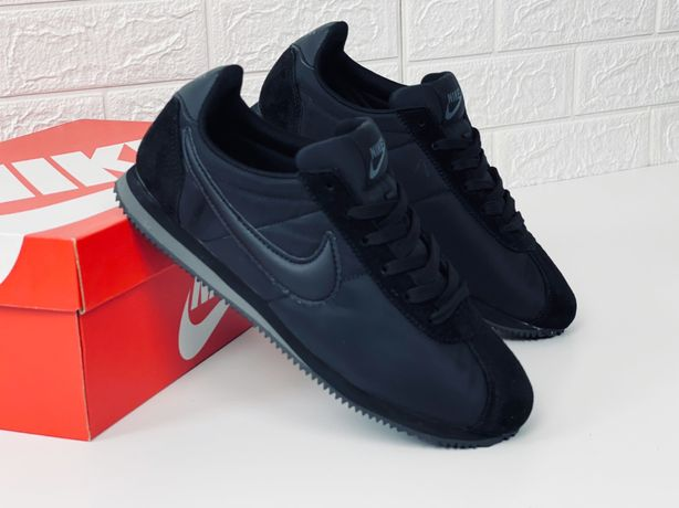 Кроссовки мужские nike classic cortez nylon all black кросівки кортези