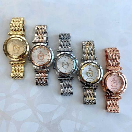 Часы женские в стиле пандора pandora крутящиеся серебро розовое золото