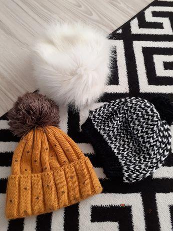Zimowe czapki, w idealnym stanie, tanio!