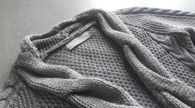 Długi Kardigan sweter pleciony ZARA